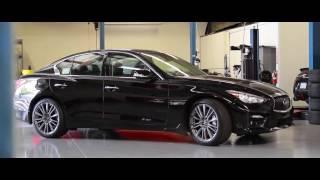 infiniti q50 red sport 3 0t   stillen stage 2 exhaust system   teaser