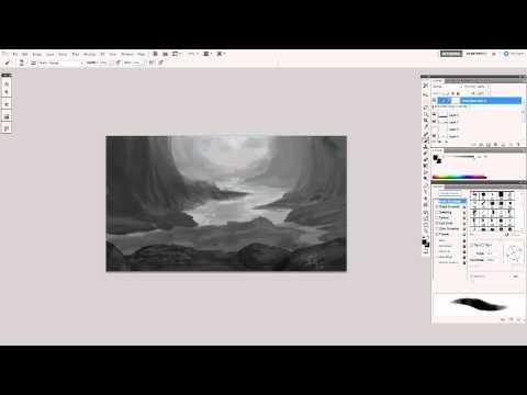 Digital Painting: Environment Sketch Demo
