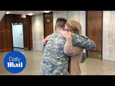 Soldier surprises loved ones - Daily Mail - YouTube