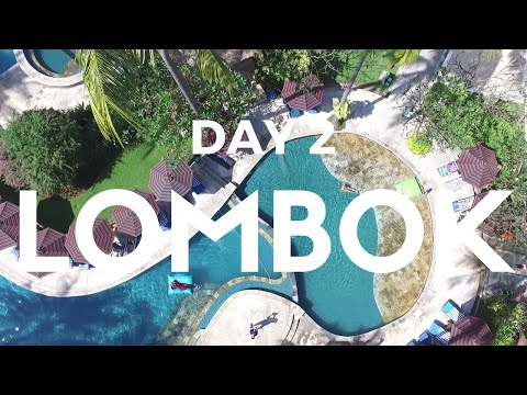 Beautiful Pool & Beach, Street Food Lombok | LOMBOK Day 2 | vlog 24
