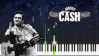 johnny cash - i walk the line - PIANO TUTORIAL
