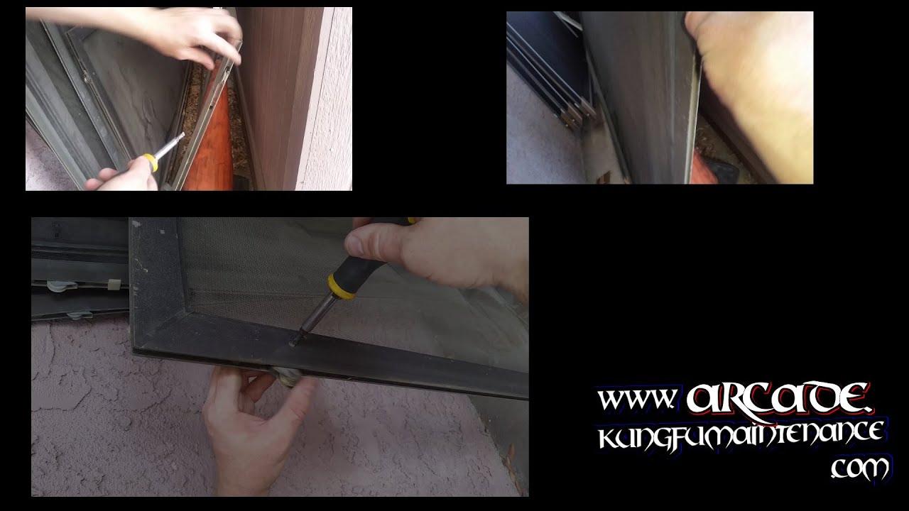 Three Different Screen Door Wheels Types How To Raise Lower Adjust Remove  Replace Broken Install