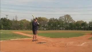 Senior Softball - Billy Blake hitting