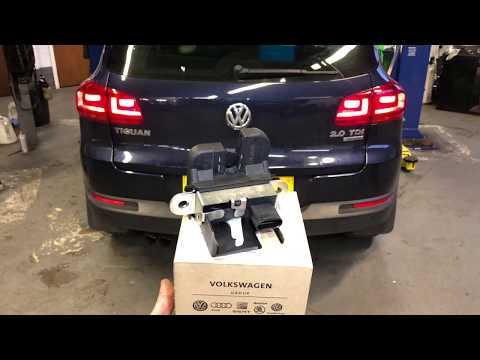 VW Tiguan rear (tailgate/hatch/boot) door lock replacement full video