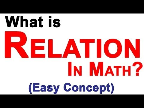 Relations in Mathematics