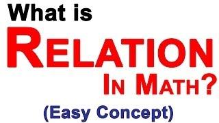Relations in Mathematics