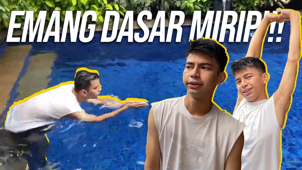 DIMAS DI SURUH LATIHAN RENANG, TERNYATA PERNAH JADI ATLET, LIAT GAYA RENANGNYA!!