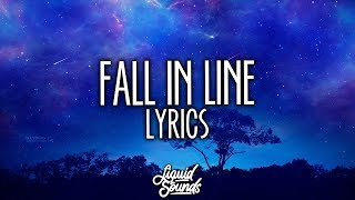 Christina Aguilera & Demi Lovato - Fall In Line (Lyrics / Lyric Video)