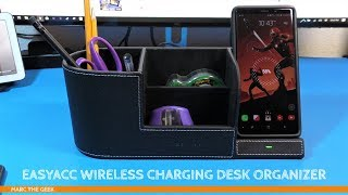 EasyAcc Wireless Charging Desk Organizer