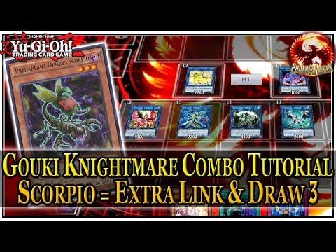 GOUKI KNIGHTMARE Combo Tutorial #1 (Post-FLOD) Predaplant Scorpio = 1 Card Extra Link & Draw 3