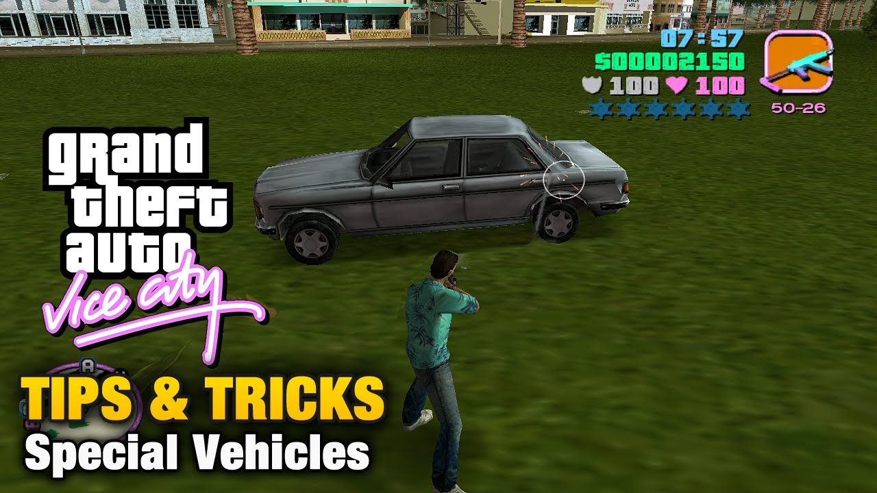Gta Vice City Tips Tricks Special Vehicles Youtube