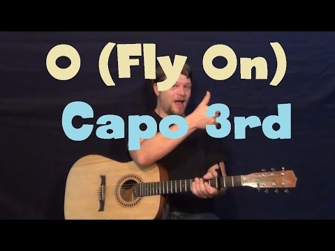 O - Fly On (Coldplay) Easy Guitar Lesson Strum Fingerstyle How To Play Tutorial