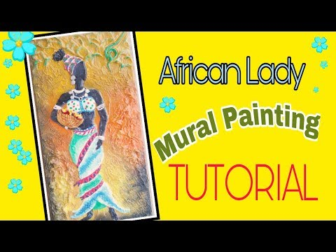 African Tribal Lady Mural Painting || Shilpkar Hobby Ideas Mural