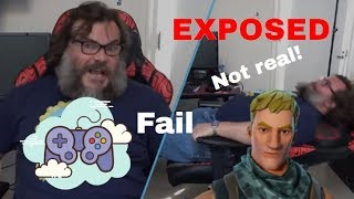 Jack Black is not a real gamer (Jablinski Games Fortnite Fail) - FGD