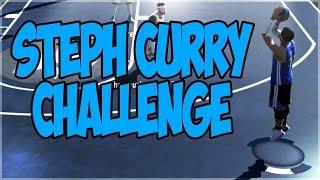 THE STEPH CURRY CHALLENGE!! CRAZY DEEP SHOTS!! NBA 2K16 MYPARK CHALLENGE