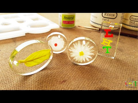 Flower Pendant With Resin DIY | Resin Craft | Making Resin Ornaments