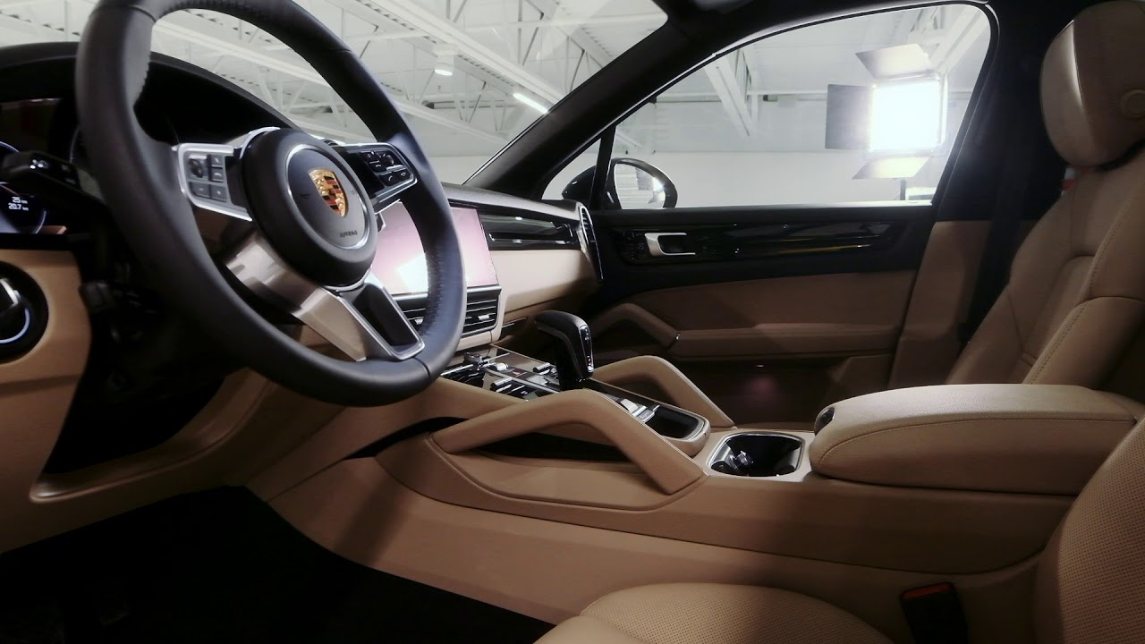 2019 Porsche Cayenne Jet Black On Mojave Beige Youtube