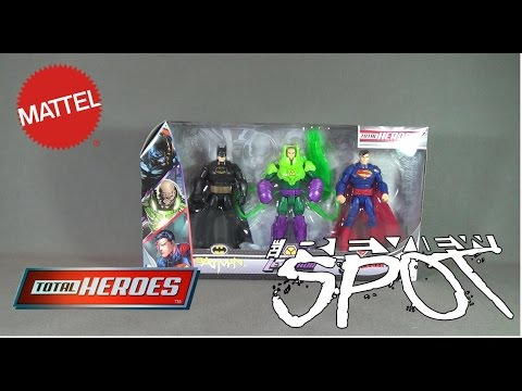 Toy Spot - Mattel DC Comics Total Heroes Batman, Lex Luthor, Superman 3 Pack