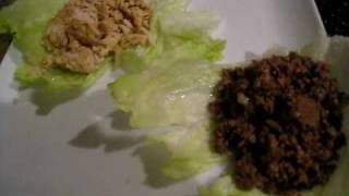Atkins Induction Diet - Dinner, Day 4- Lettuce Wrap Tacos With Ground Turkey Breast & Ground Sirloin