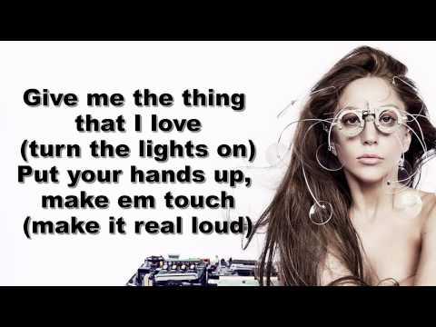 Lady Gaga   Applause Lyrics On Screen