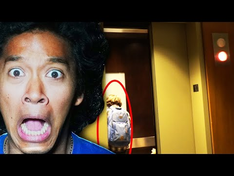 PLAYING THE ELEVATOR GAME in HAUNTED BUILDING (HE GOT TRICKED!!)