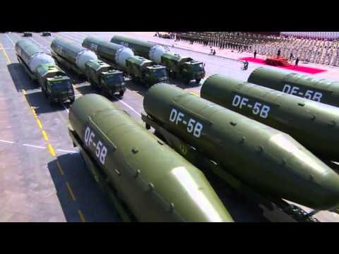 China shows off military might with big parade