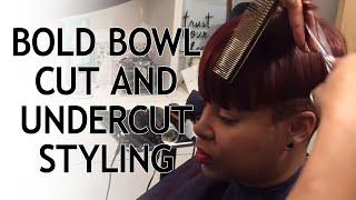 QUICK HAIR STLYE: BOLD Bowl Cut & Undercut Styling with Celebrity Hair Stylist Kiyah Wright