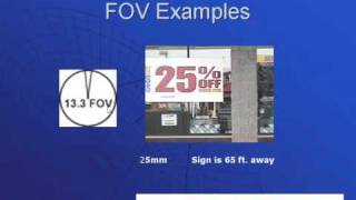 Describes what FOV (Field of View) is and how it is calculated as w...