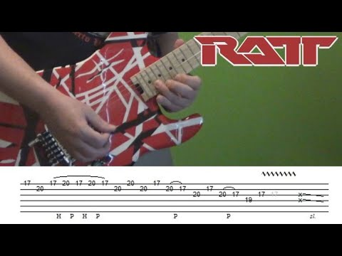 Guitar Lesson - Round and Round (Ratt) solo with tabs