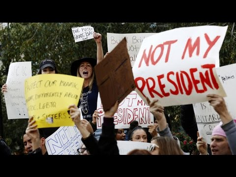 Anti-Trump demonstration quickly turns into riot