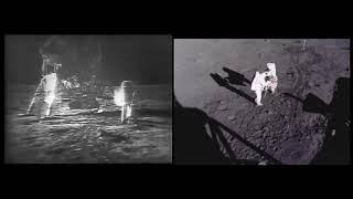 Homem na Lua - APOLLO 11- Instalando a bandeira em solo lunar