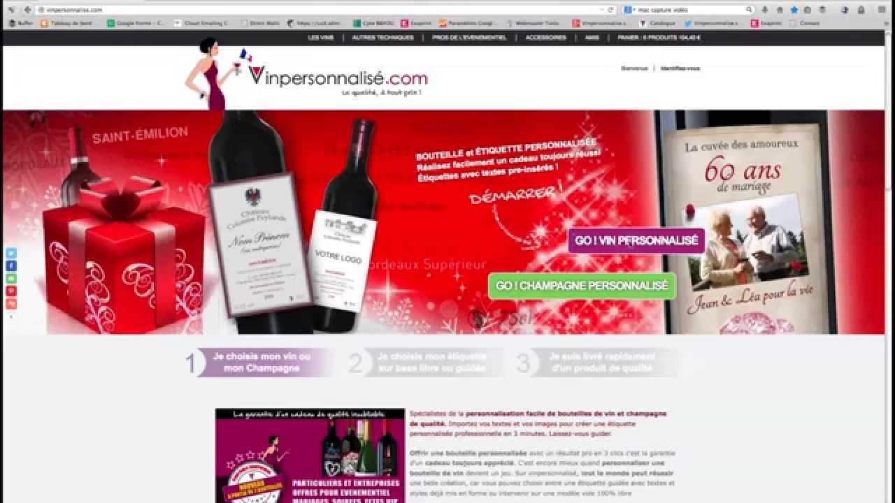 vin personnalis personnaliser une bouteille de vin ou. Black Bedroom Furniture Sets. Home Design Ideas