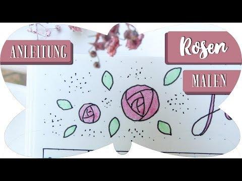 Rosen Zeichnen Anleitung Schritt Für Schritt Zeichnen Für