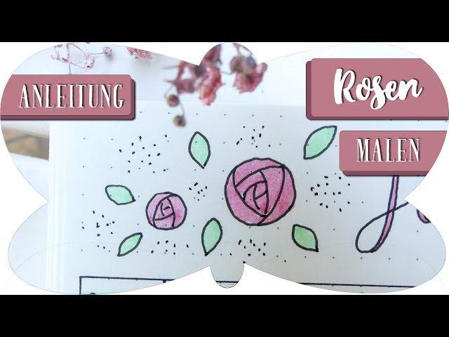 ROSEN zeichnen Anleitung | Schritt für Schritt | Zeichnen für Anfänger