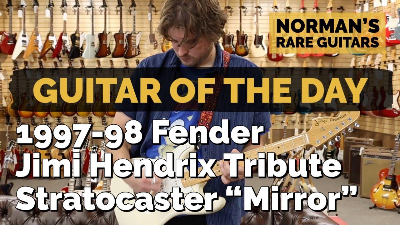 "Guitar of the Day: 1997-98 Fender Jimi Hendrix Tribute ""Mirror"" Stratocaster | Norman's Rare Guitars"
