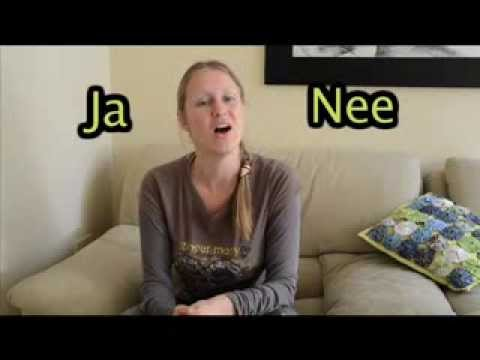 Learn Afrikaans no1: Learn to say yes(ja) and no(nee) propperly in Afrikaans from native speaker.