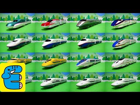プラレール最速新幹線 16列車中いちばん速いのはだれだ? Plarail Who is the fastest Shinkansen with 16 trains? [English Subs]