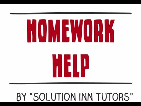 Homework help int 1