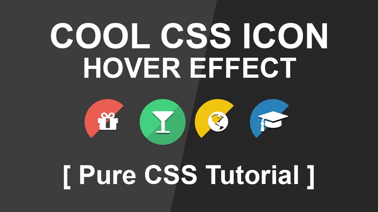 how to create css Icon Hover Effect 2 - Font Awesome icon