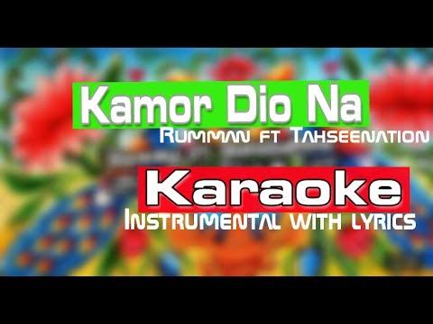 [KARAOKE] Kamor Diona (Official Song) | কামড় দিওনা | Rumman ft. TahseeNation | Instrumental