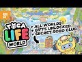Secret Robo Club + More Gifts + All Worlds Unlocked TOCA Life World