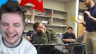 IL DORT EN COURS SON PROF LE PRANK ! (Les pires vidéos à l'école #3)
