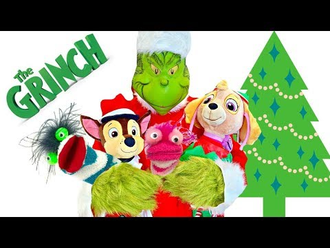 Learning Colors with The Grinch Taking Paw Patrol and Fizzy's Christmas Presents