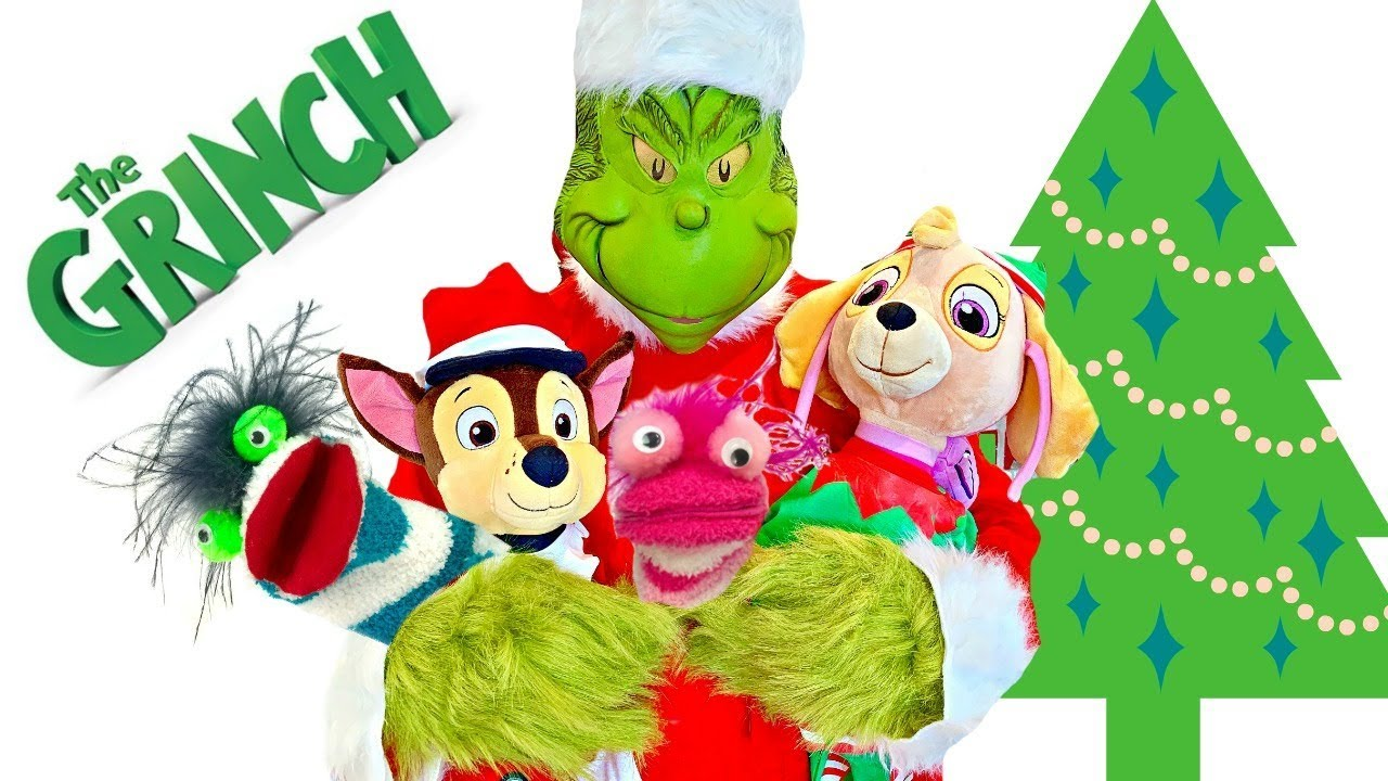 Fizzy Fun Toys: Learning Colors With The Grinch Taking Paw Patrol And
