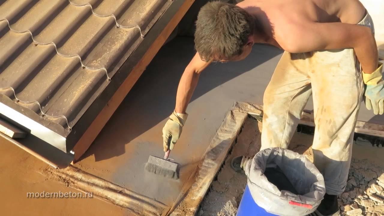 Декоративный бетон технология HD