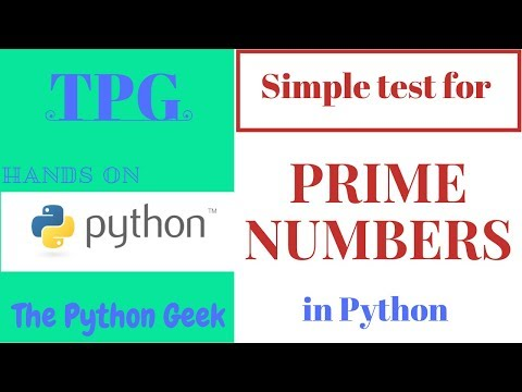 Prime number Test in Python || Simple test for Prime number || Prime or not test ||