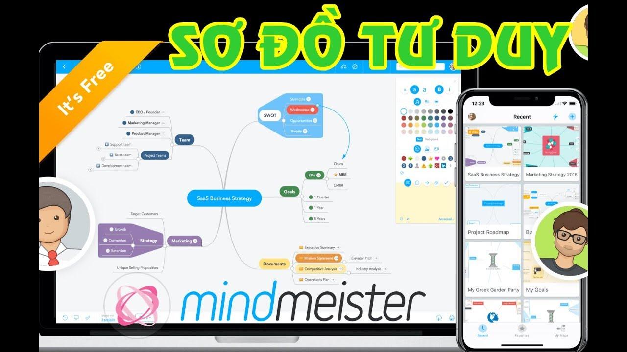 Hướng dẫn sử dụng SƠ ĐỒ TƯ DUY MindMeister – Phần 1