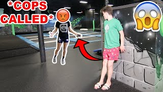 SNEAKING INTO CLOSED TRAMPOLINE PARK! *COPS CALLED*