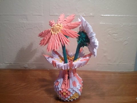 How To Make 3d Origami Small Vase Updated Youtube