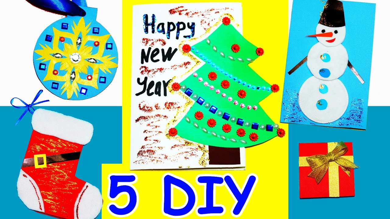5 diy card ideas easy greeting cards christmas and new year greeting card card ideas julia diy